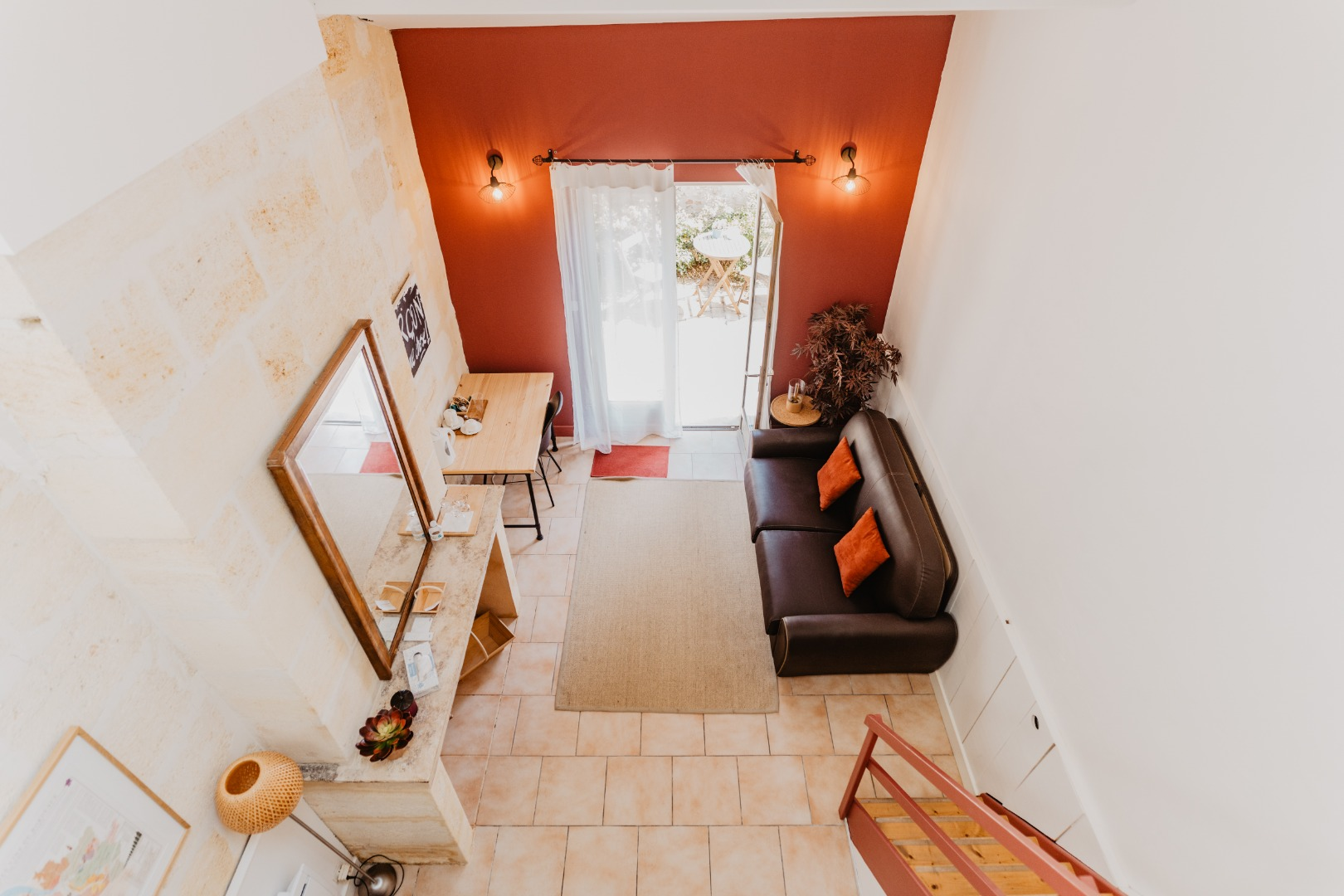 Location chambre duplex avec vue sur jardin proche de Bordeaux